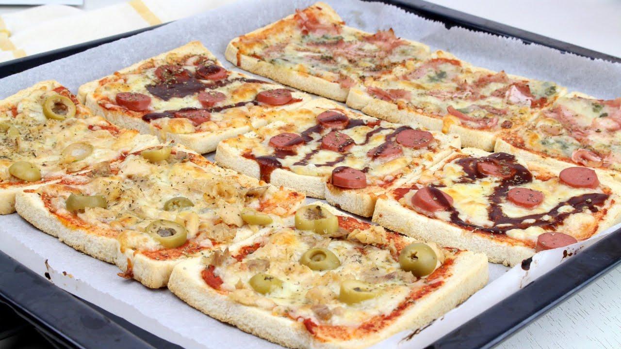 🍕🍞PIZZAS EN PAN DE MOLDE🍞🍕 | Pizzetas fáciles con pan de molde