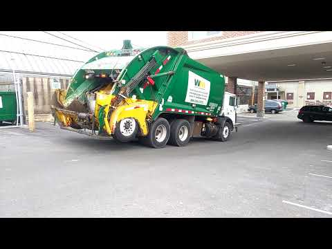 City of newark Delaware and waste management trucks