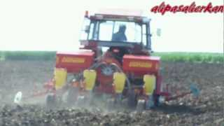 fiat 65 46 dt gngr pnuematic drill machine planting the sunflower 2012 part2 hd video