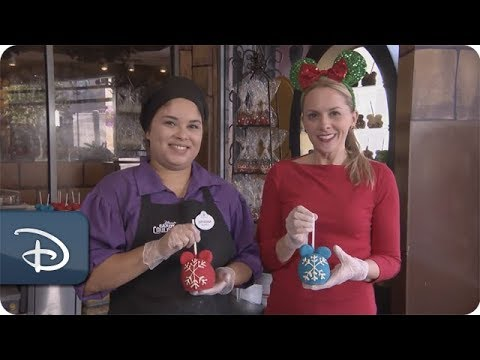 DIY Holiday: How-To Make Make A 'Mickey Snowflake Ornament' Candy Apple