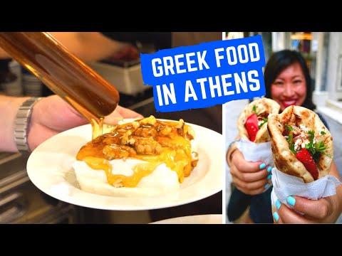 Amazing GREEK FOOD | STREET FOOD TOUR In ATHENS Greece | Best Souvlaki Athens + Heritage Restaurants