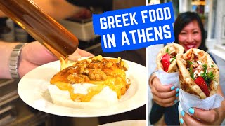 Amazing GREEK FOOD   STREET FOOD TOUR in ATHENS Greece   Best souvlaki Athens + heritage restaurants