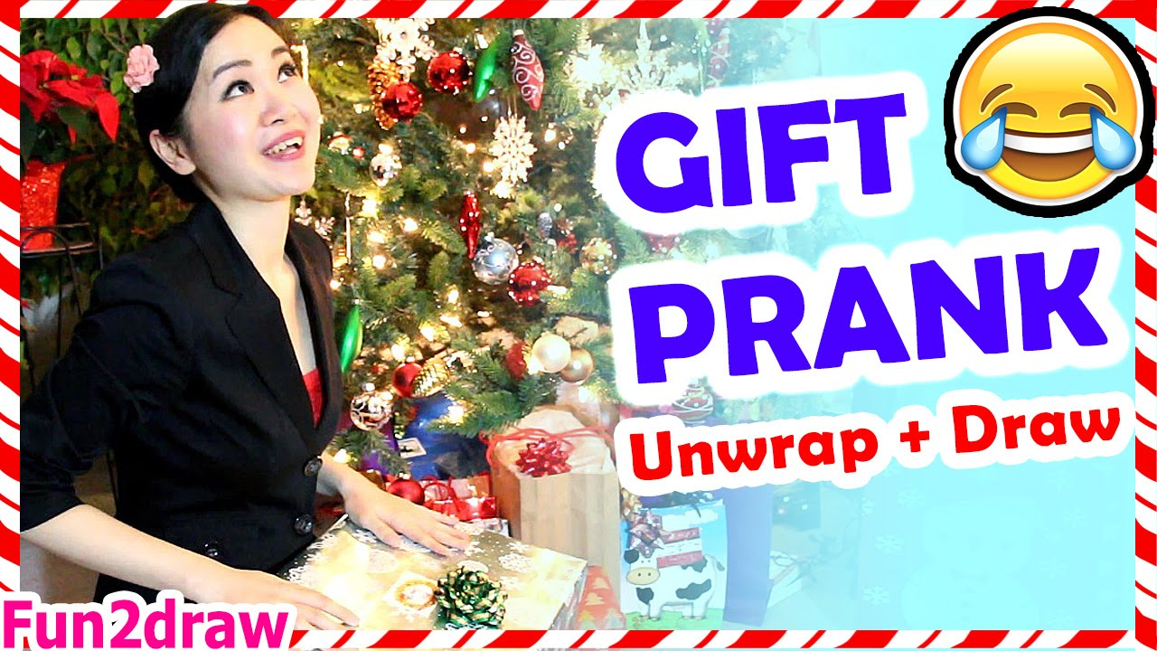CHRISTMAS GIFT PRANK + Unwrap and Draw My Gift - Fun2draw - YouTube