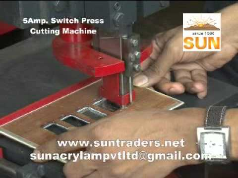 Switch Press Cutting Video For Bakelite And Pvc Youtube