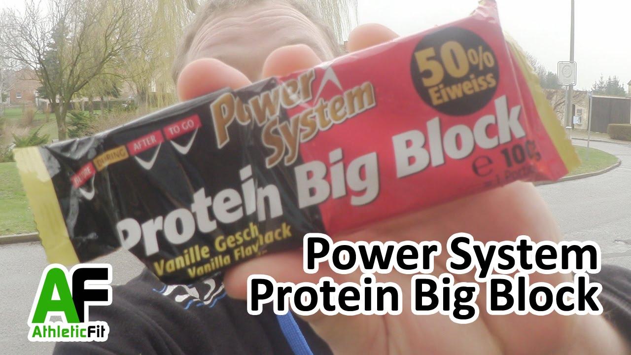 big protein block von power system supplement riegel. Black Bedroom Furniture Sets. Home Design Ideas