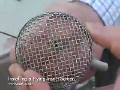 Insect Screen Installation For Rv Furnaces And Water
