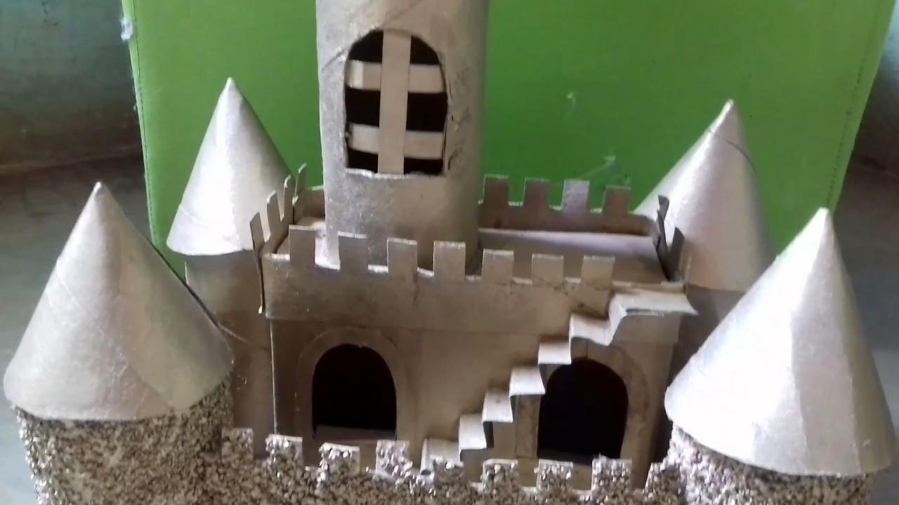 Castelo Feito De Papelão Youtube