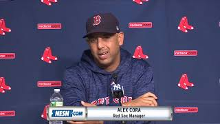 Alex Cora on wanting to be more aggressive at the plate