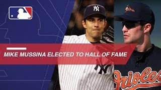 Newly elected Hall of Famer Mike Mussina