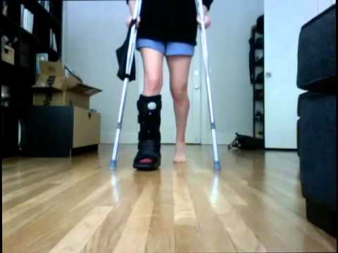 Walking After Ankle Surgery, Days 1 & 2
