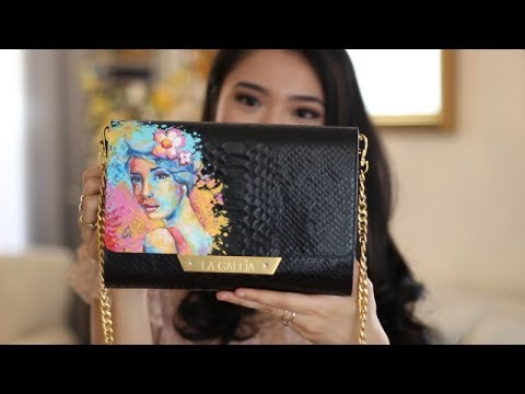 f82c8f293075 Painting on a Luxury Leather Handbag - YouTube
