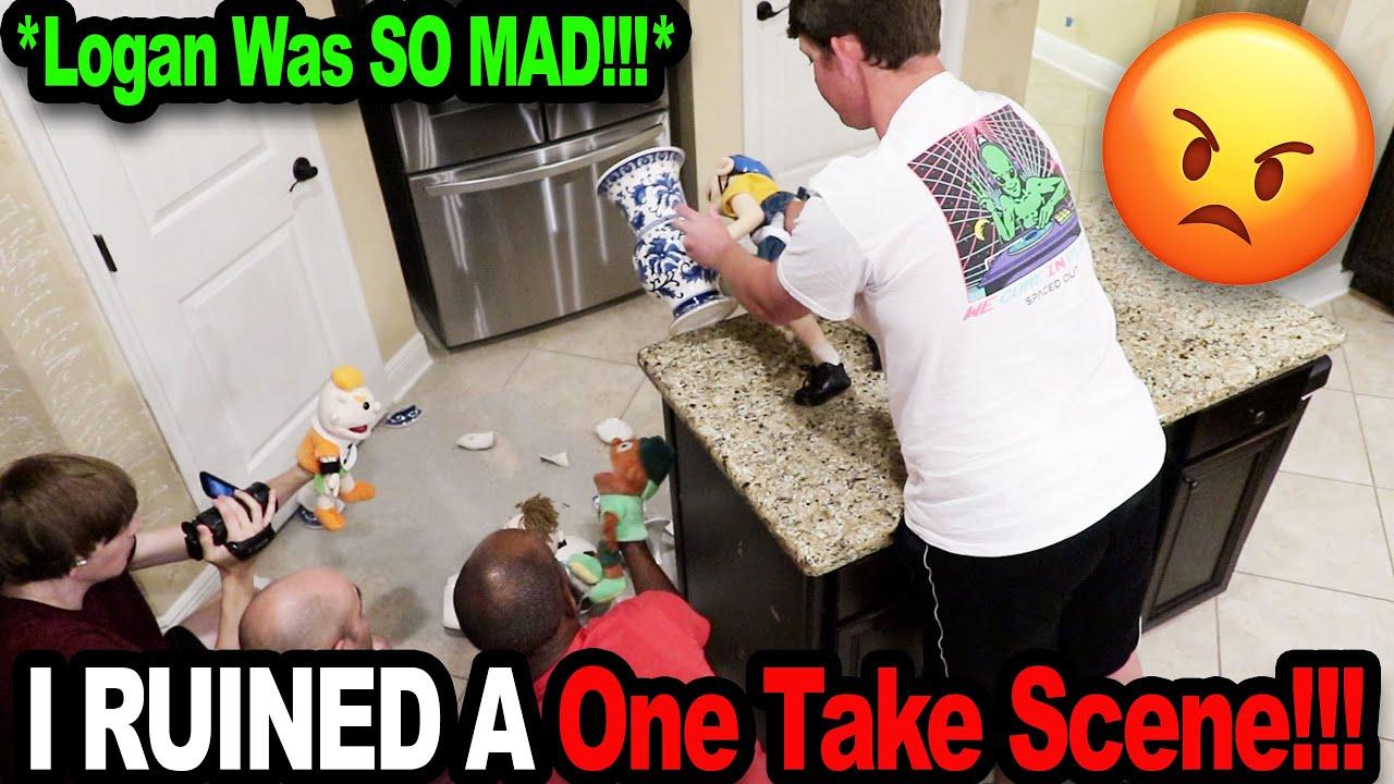 I RUINED A One Take Scene!!! *Logan Was MAD!!!*