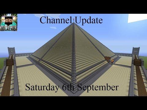 Channel Update: Saturday 6th September 2014 (Minecraft Xbox 360 Gameplay)