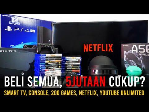 Bikin HOME ENTERTAINMENT 5JUTAAN?? (Smart TV,  200 Games Console,  Netflix)