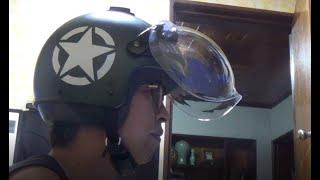 오픈 페이스 헬멧 + 쉴드