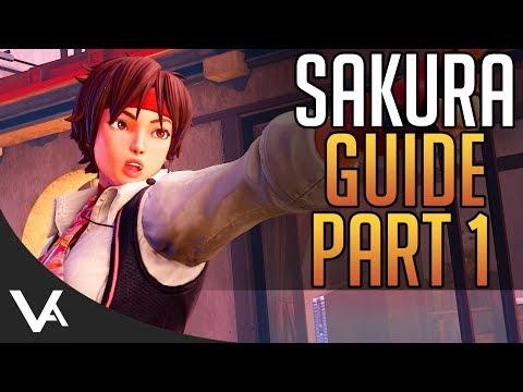 SFV - Sakura Tutorial Guide Part 1! Best Normals & Anti-Airs For Street Fighter 5 Arcade Edition