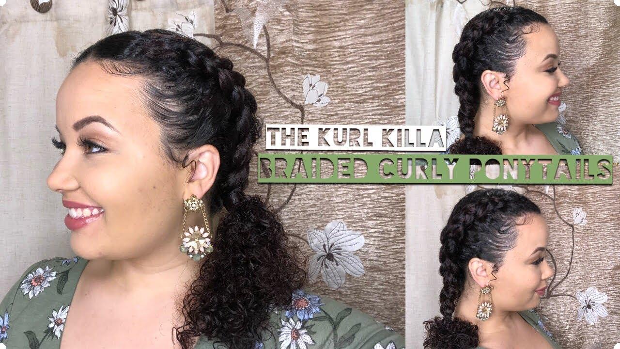 Braided Curly Ponytails Youtube