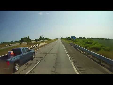 Driving on US 127 in Michigan from Clare to Jackson