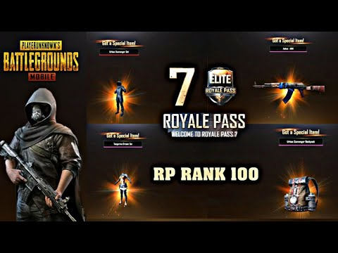 8000 UC UPGRADE TO MAX LEVEL ROYAL PASS RANK 100 - PUBG MOBILE SEASON 7
