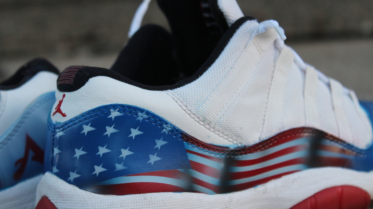 e508614b444 CUSTOM USA 11 JORDANS - YouTube