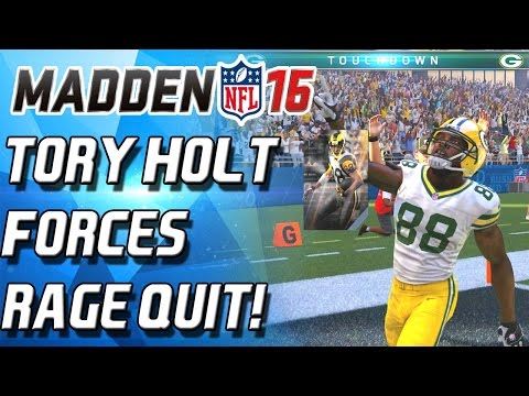 SUPERBOWL TORRY HOLT FORCES RAGE QUIT! - Madden 16 Ultimate Team