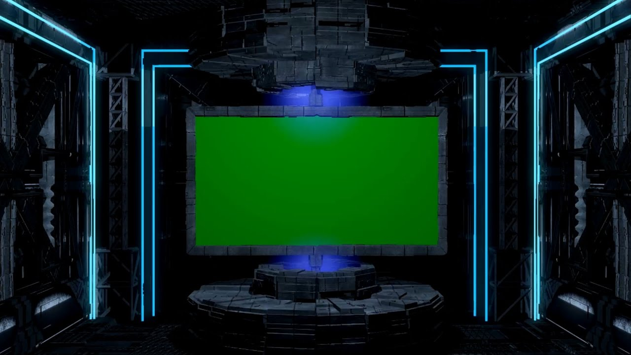 Sci-Fi Spaceship Animation. Green Screen Intro Template