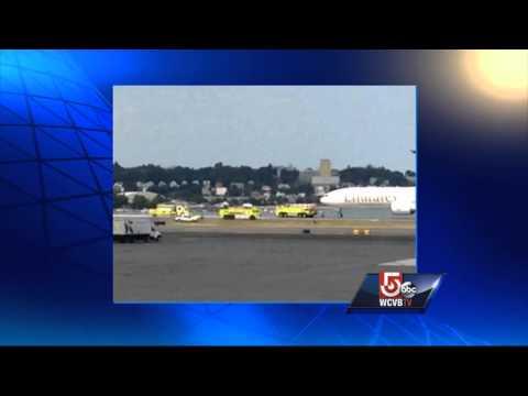 Small engine fire grounds Dubai-based flight at Logan