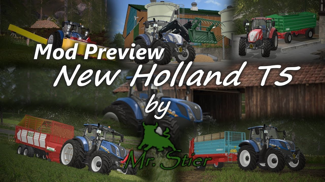 Ls17 New Holland T5 By Mrstier Mod Preview New Holland