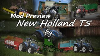 Ein Video zum New Holland T5 von MrStier, dieser bald zum Download auf Modhub erscheint! Arbeiten wie das Miststreuen, Mähen, Ladewagen fahren, Frontladerarbeiten oder der Transport von Getreide für den Gasthof Winkler ist er ein kompakter Traktor ;) Auch