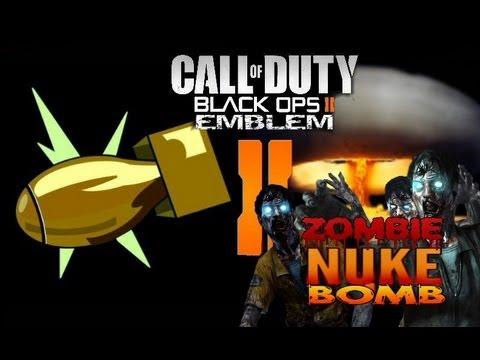 Black Ops 2 Nuke Bomb Zombies Emblem Tutorial Youtube