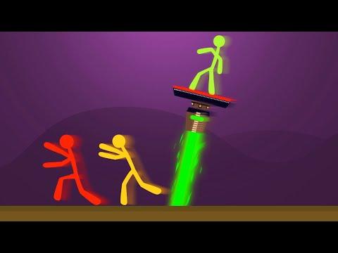 EXTREME DODGE THE BURNING LASER CHALLENGE! (Stick Fight)