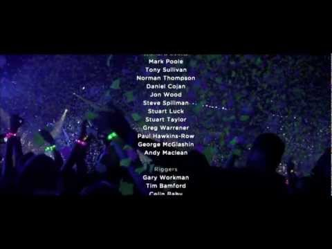 Coldplay Live 2012 Credits Scene - Up with the Birds