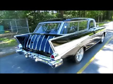 classic cars 1957 chevy belair nomad ,original motor @colors