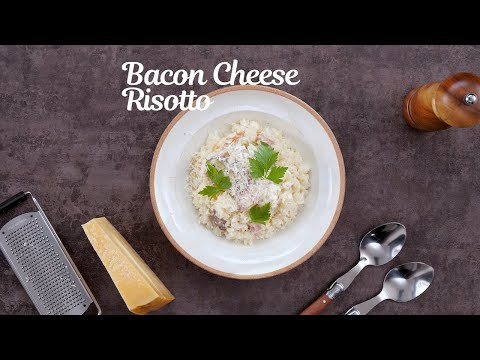 Bacon Cheese Risotto [Rice Cooker SR-HB184] (CN)