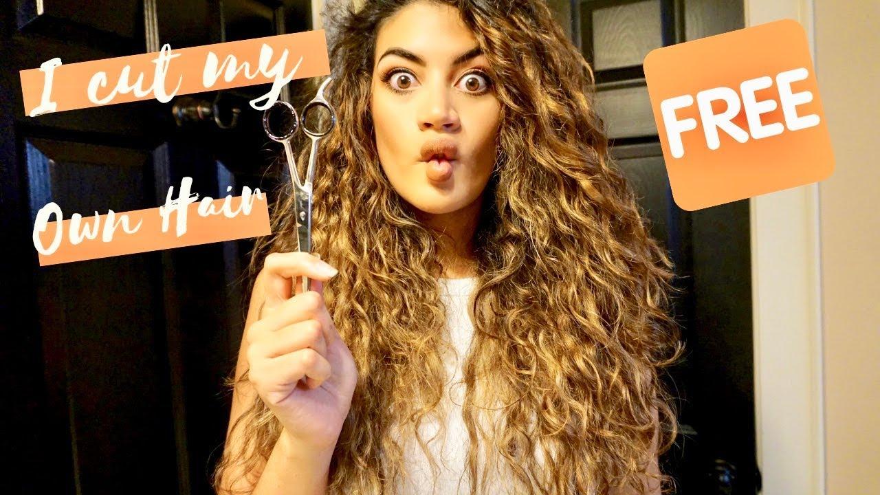 DIY Unicorn Cut on Curly Hair - I CUT MY HAIR!!