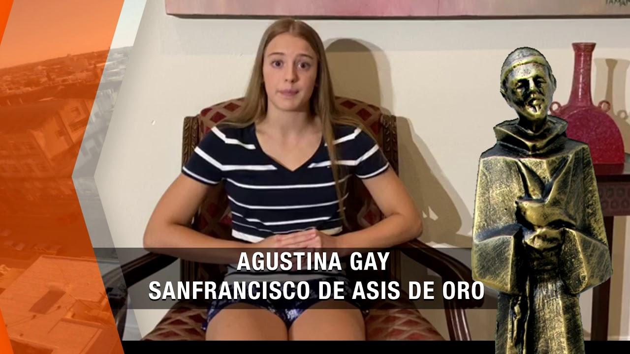 Agustina Gay, ganadora del San Francisco de Asís de Oro 2019