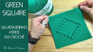 Quadradinho Verde em Crochê por Marcelo Nunes