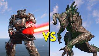 Fallout 4 - 100 Deathclaws VS 100 Brotherhood of Steel - Battles #5