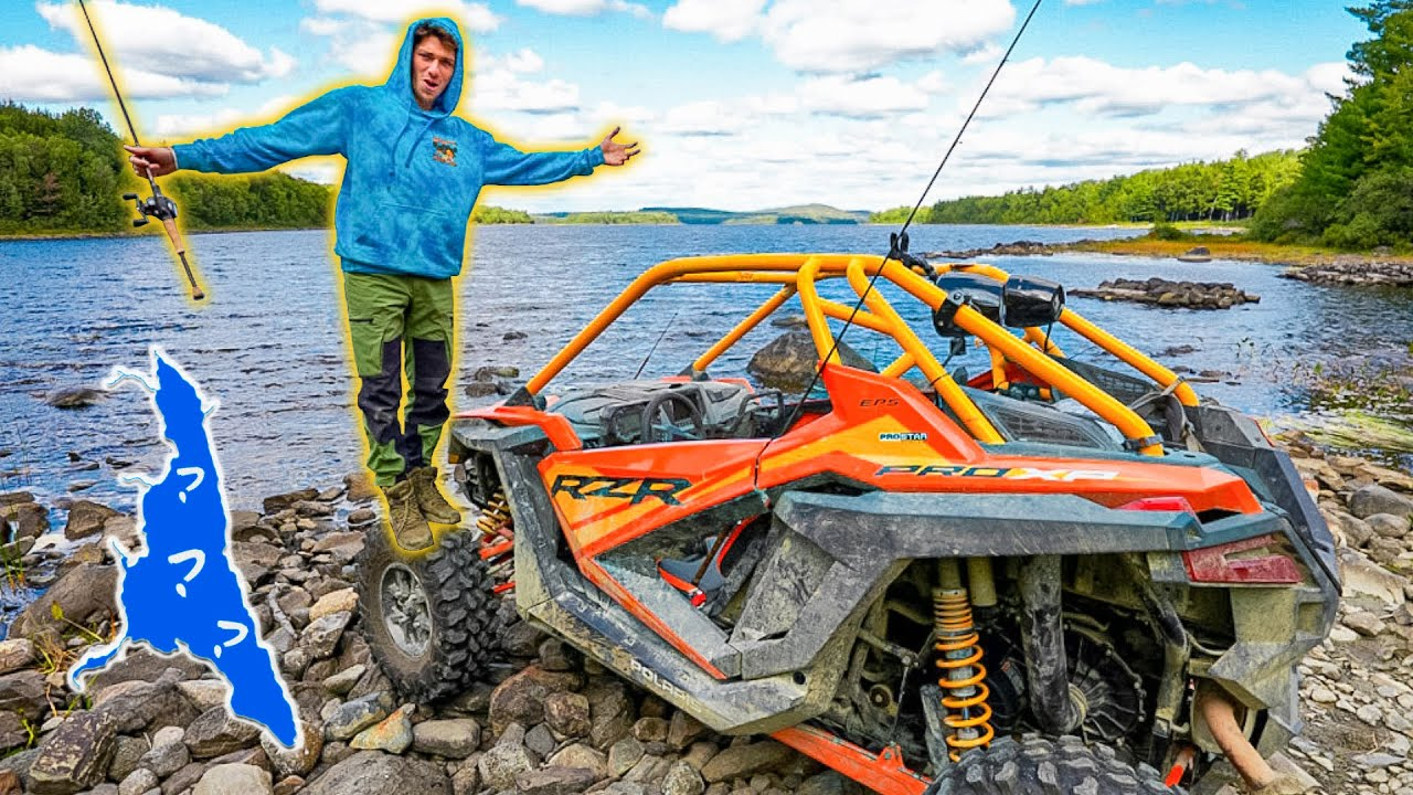 We FOUND a HIDDEN LAKE Loaded With FISH!! (RZR BACKWOODS Mission)