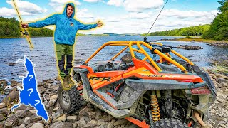 We FOUND a HIĎDEN LAKE Loaded With FISH!! (RZR BACKWOODS Mission)