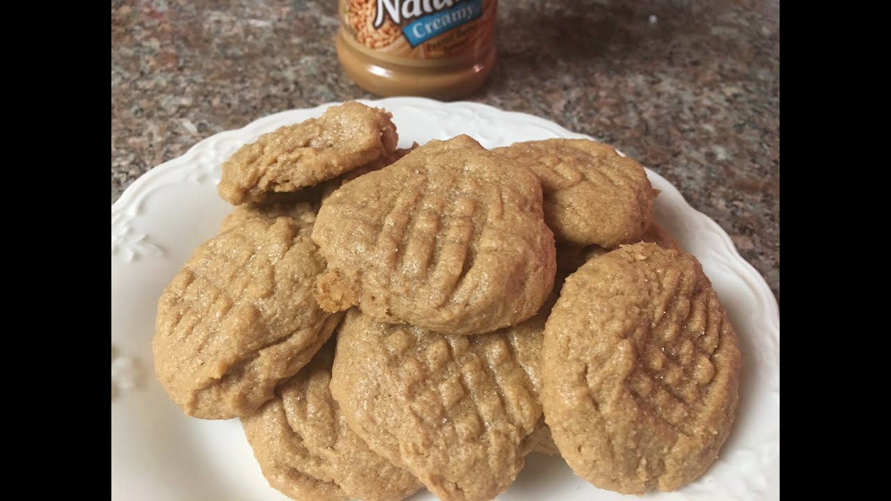Easy Peanut Butter No Flour Cookies Recipe Youtube