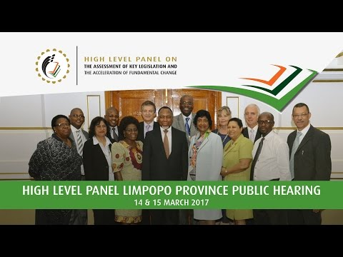 High Level Panel Public Hearing in Limpopo Province: 14 March 2017, Afternoon