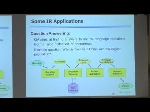 [PURDUE MLSS] A Machine Learning Approach for Complex Information Retrieval Applications by Luo Si