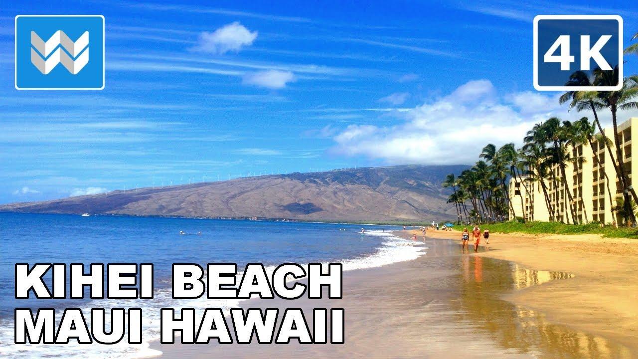 Walking Along The S Of Kihei Beach In Maui Hawaii 4k