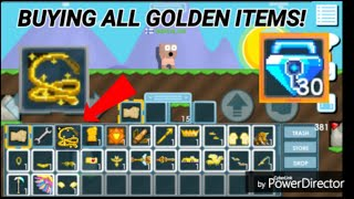 BUYING ALL GOLDEN ITEMS ON GROWTOPIA!! ( FOR 30 BLUE GEM LOCK?! ) OMG!! - Growtopia