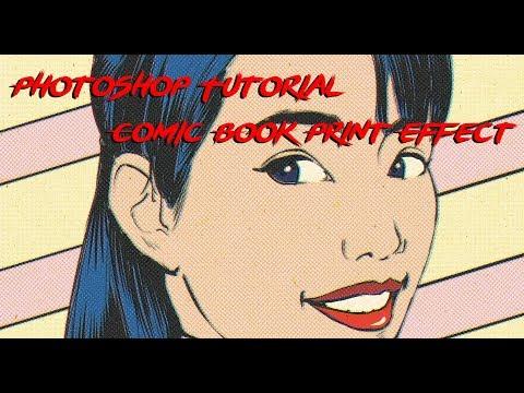 Photoshop Tutorial: Comic Book Print Effect thumbnail