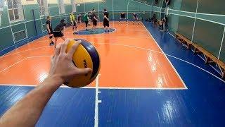 Волейбол от первого лица. Волейбольная тренировка от первого лица GoPro 7 Black.