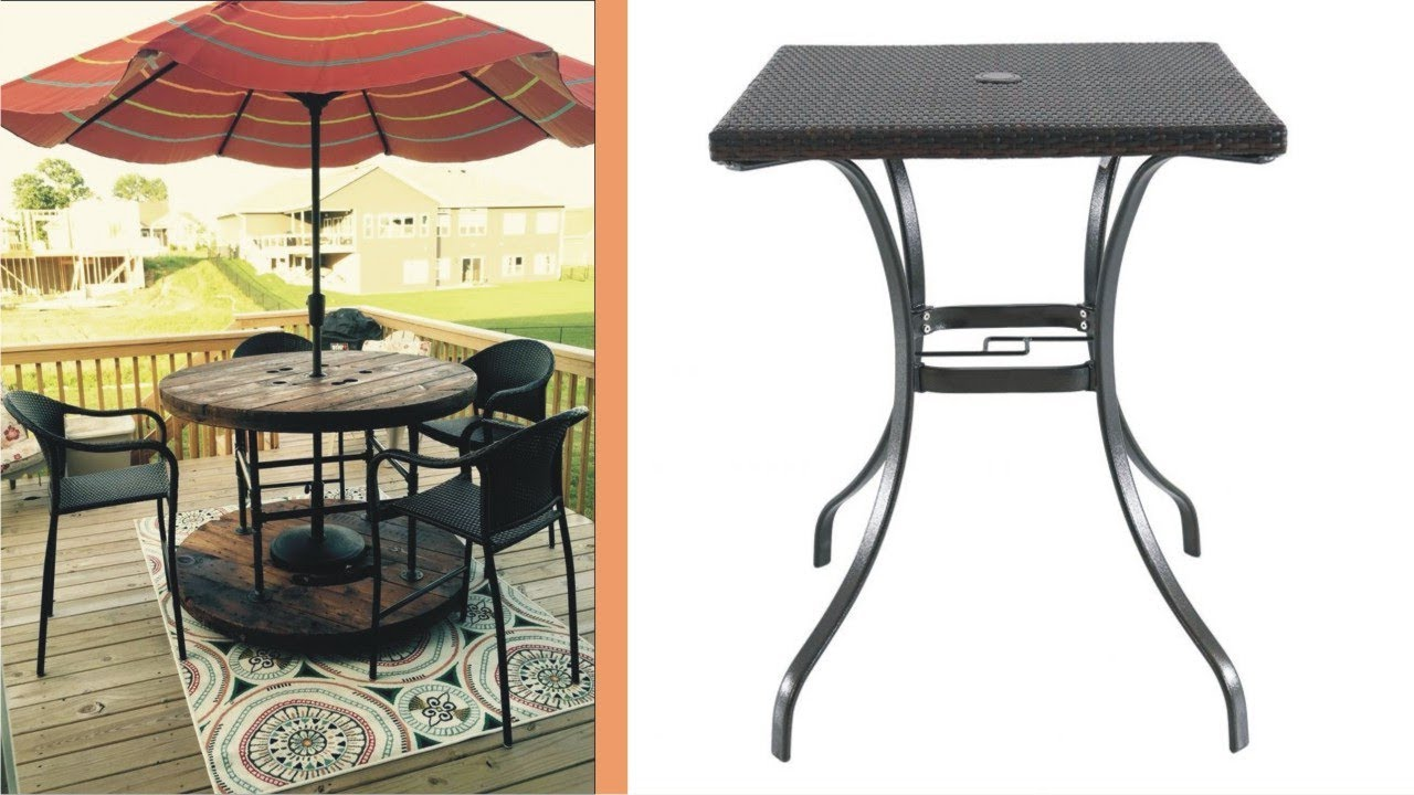 wondrous outdoor coffee table with umbrella hole