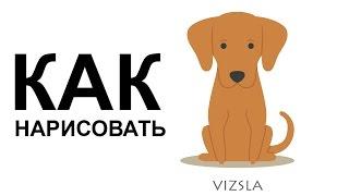 Картинки про собак. КАК поэтапно НАРИСОВАТЬ СОБАКУ