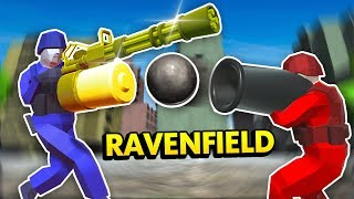 GOLDEN MINIGUN vs MASSIVE CANNON IN RAVENFIELD (Ravenfield Funny Gameplay)